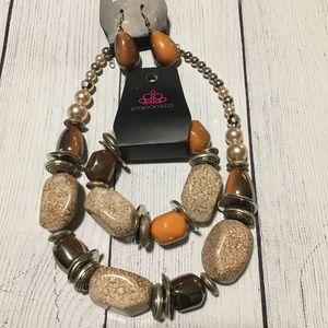 Paparazzi Fall Necklace and Bracelet Set
